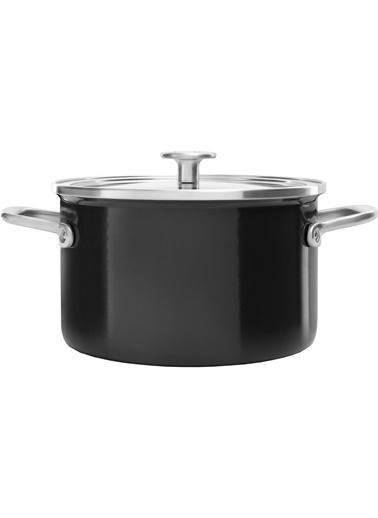KitchenAid Artisan Cc003268-0011 6 Lt. Çelik 24 Cm Siyah Tencere Renkli